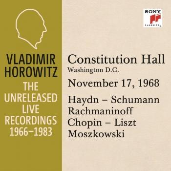 Cover Vladimir Horowitz in Recital at Constitution Hall, Washington D.C., November 17, 1968