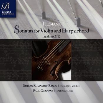 Cover Telemann: Sonatas for Violin & Harpsichord