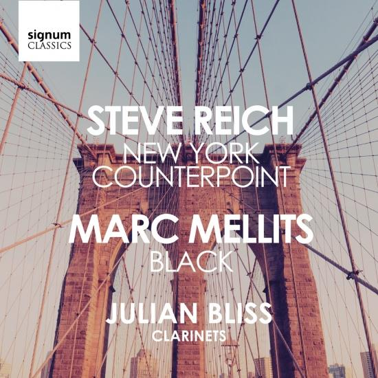 Cover Reich: New York Counterpoint / Mellits: Black