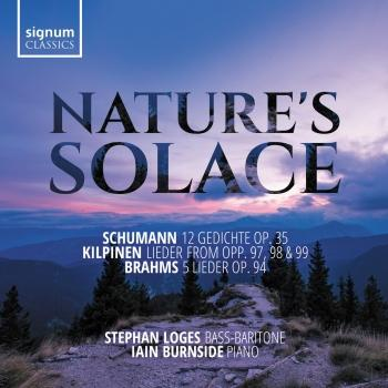 Cover Nature's Solace: Lieder by Schumann, Kilpinen & Brahms