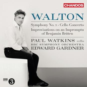 Cover Walton: Improvisations on an Impromptu of Benjamin Britten, Cello Concerto & Symphony No. 2