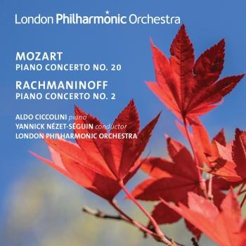 Cover Rachmaninoff: Piano Concerto No. 2 - Mozart: Piano Concerto No. 20