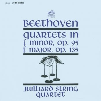 Cover Beethoven: String Quartet No. 11 in F Minor, Op. 95 'Serioso' & String Quartet No. 16 in F Major, Op. 135
