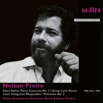Cover Nelson Freire plays Saint-Saëns' Piano Concerto No. 2 and Piano Works by Grieg & Liszt (Remastered)